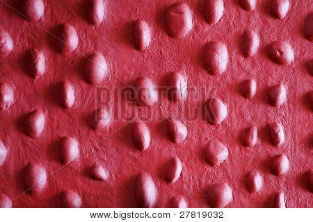 Close Up Random Stone Stipple Maroon Mauve Texture