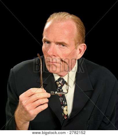 Glaring Businessman