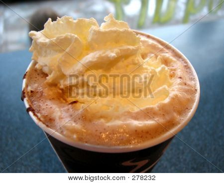 Hot Chocolate With Wipped Cream