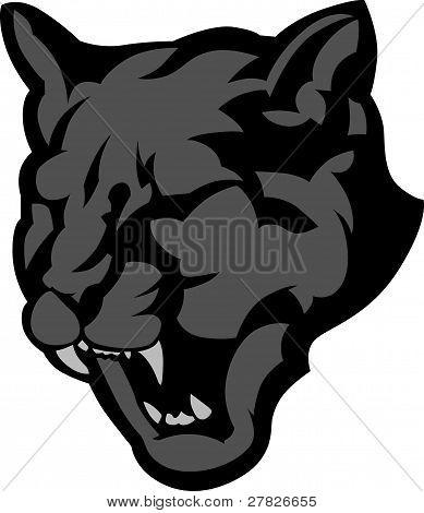 Cabeza de la mascota de Pantera Vector Graphic