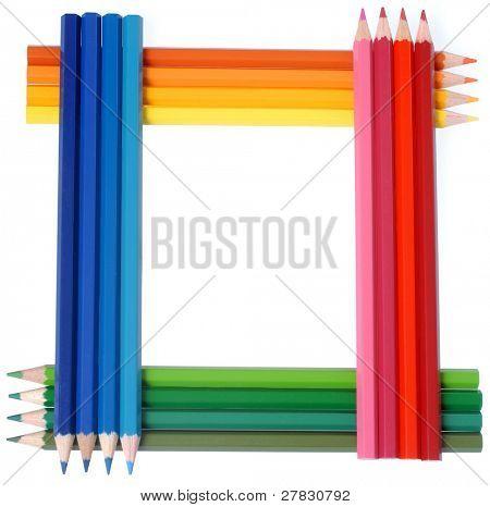 Framework from color pencils