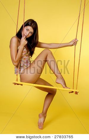 beauty on swing