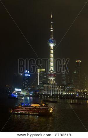 Pudong At Night Shanghai