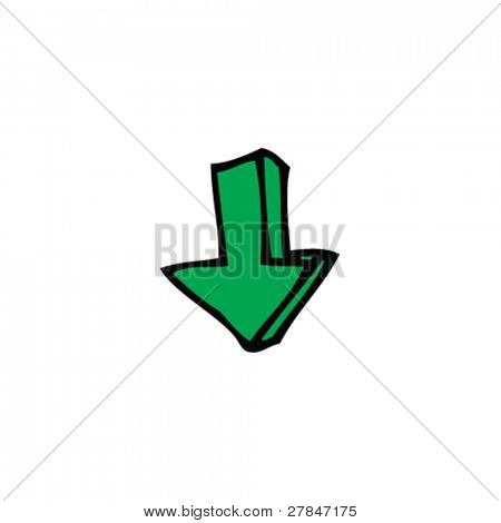 drawing of an arrow
