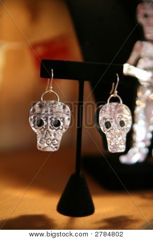 Silver Jewelry In The Shape Of A Skull
