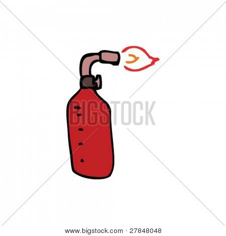 drawing of a blowtorch