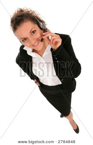 Businesswoman With Telephone Headset