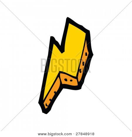 quirky drawing of a lightning bolt