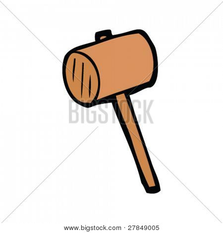 quirky drawing of a mallet