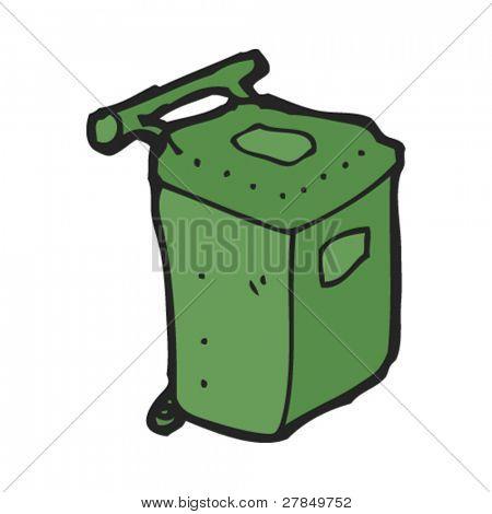 quirky drawing of modern plastic bin