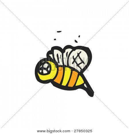 peculiar dibujo de una abeja