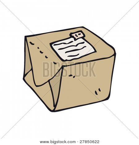 quirky drawing of a parcel