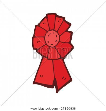quirky drawing of labour party rosette
