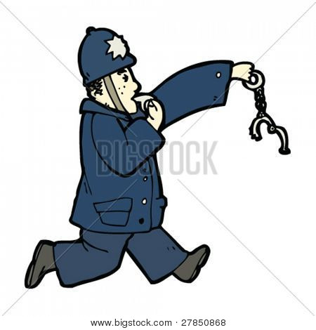 chasing policeman cartoon