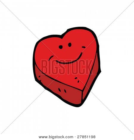quirky cartoon heart