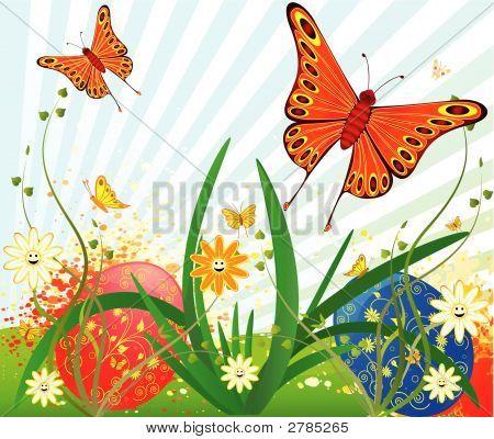 Easter Background Vector Design