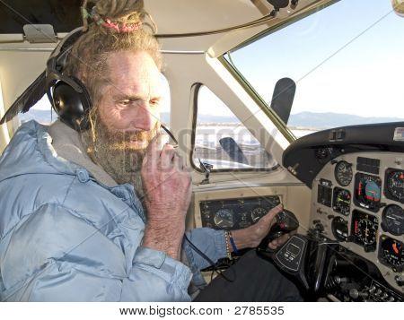 Strange Pilot Talking To The Radio