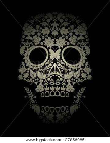 Day of the dead skull background