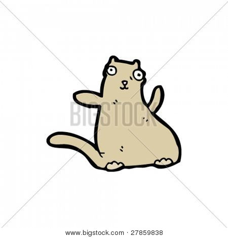 obese pet cartoon