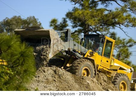 Front End Loader Moving Dirt