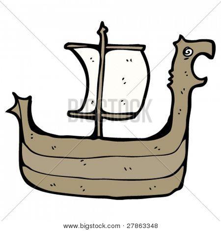 viking longboat cartoon