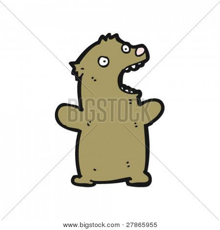 roaring bear cartoon