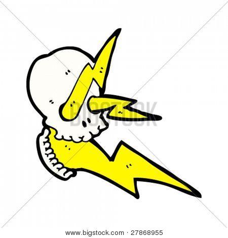 cráneo de rayo eléctrico
