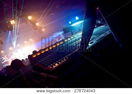 Professional Sound Engineer Console At