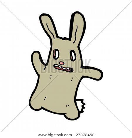 scary rabbit cartoon