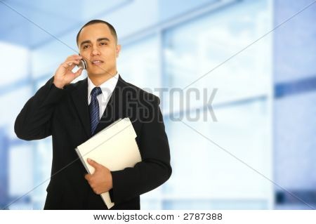 Making A Phone Call In Office
