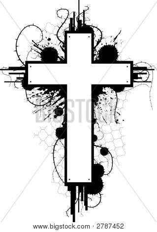 Grunge Cross Emblem