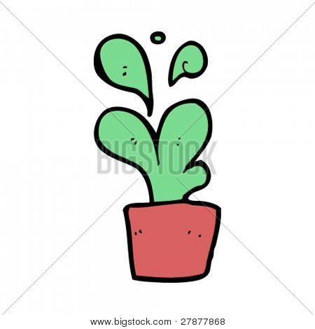 odd potted plant cartoon