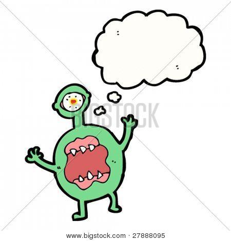 cartoon hideous monster