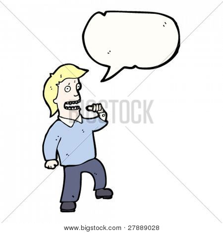 vain cartoon man pointing at self
