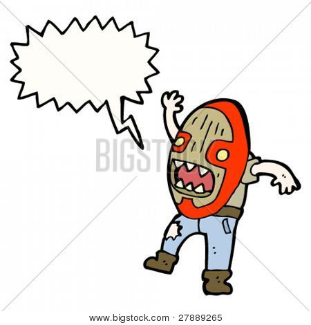 cartoon cannibal mask man