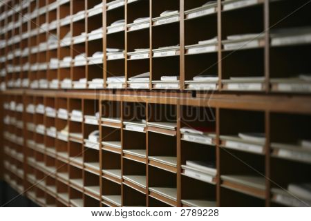Pigeonholes In A Library
