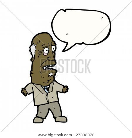 cartoon old man talking
