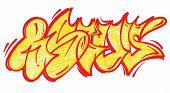 Set Street Type Calligraphy Design Alphabet Graffiti Flop Fast Style Letters Write Aerosol Paint Spr poster