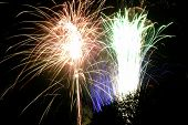 pic of guy fawks  - Time exposure of a firework display - JPG
