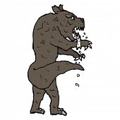 image of wolfman  - quirky cartoon werewolf - JPG