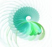 Abstract Fractal Element In Rotational Motion For Your Design. poster