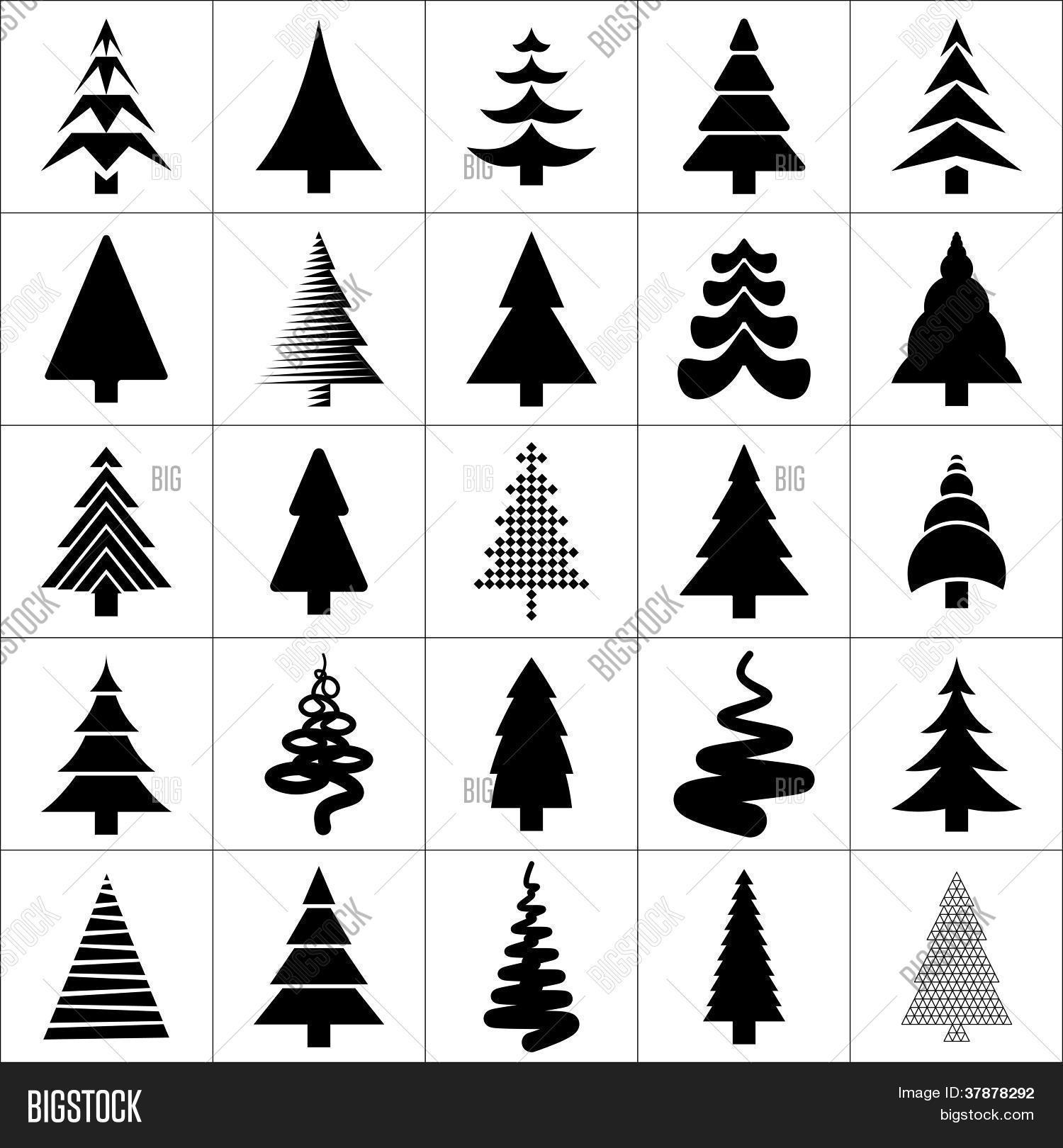 vektorgrafik und foto weihnachtsbaum silhouette bigstock. Black Bedroom Furniture Sets. Home Design Ideas