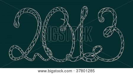 Digits Of 2013 - Snakes.