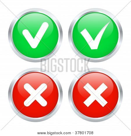 Checkbox Buttons. Vector Illustration