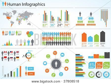 Human infographic vector illustration