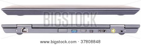 Laptop Front And Rear View