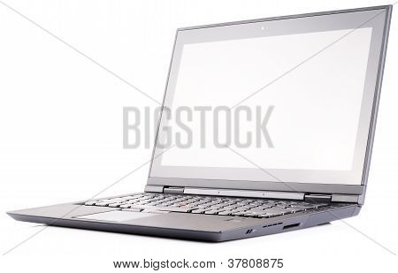 Laptop Over White