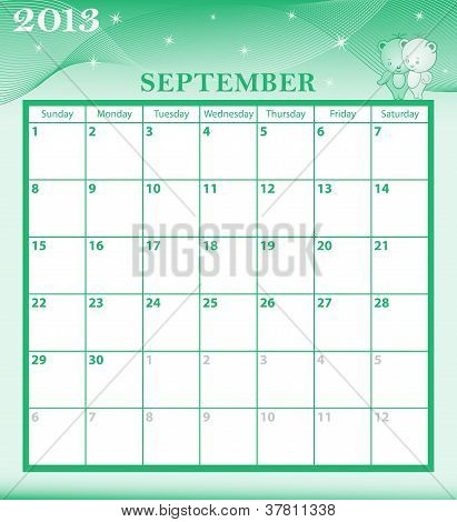Calendar 2013 September