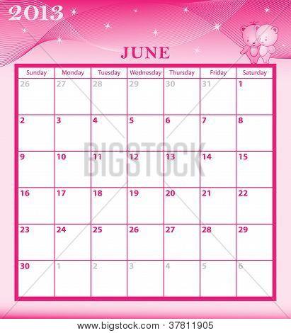 Calendar 2013 June