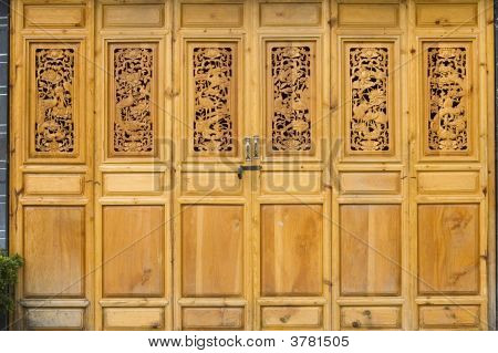 Chinese Door In Old Style